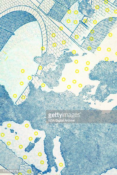 Close-up of European Union Euro Note | Finance and Business