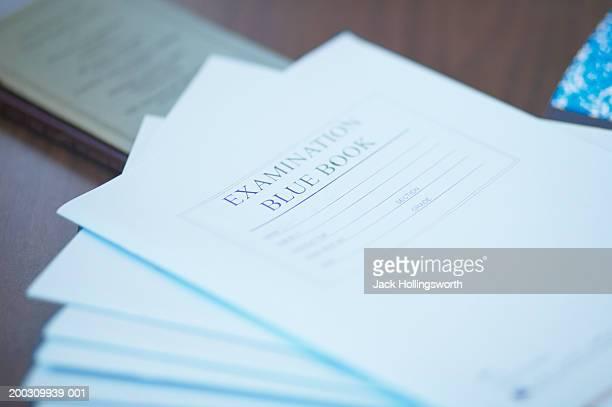 Close-up of examination sheets