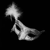 Close-Up Of Eye Mask With Feather
