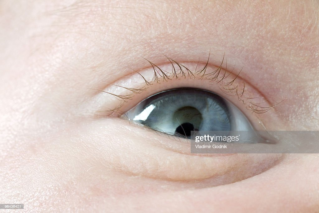 close-up of eye of baby : Stock Photo