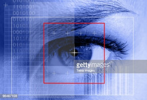 Close-up of eye scan