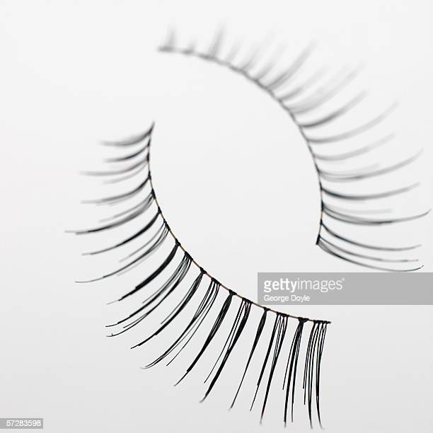 Close-up of fake eyelashes