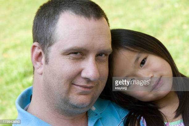 Closeup of father and daughter