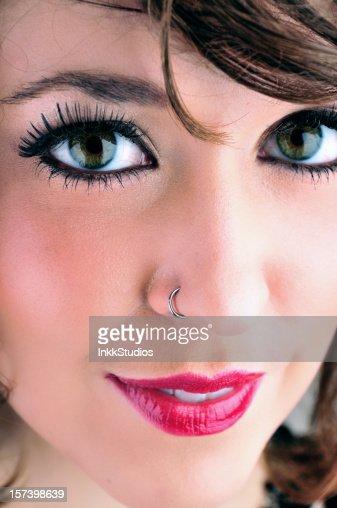 Closeup of Female Face (series)