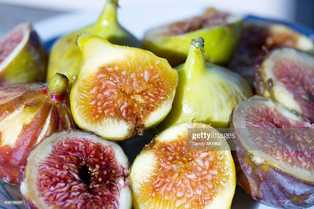 Close-up of figs