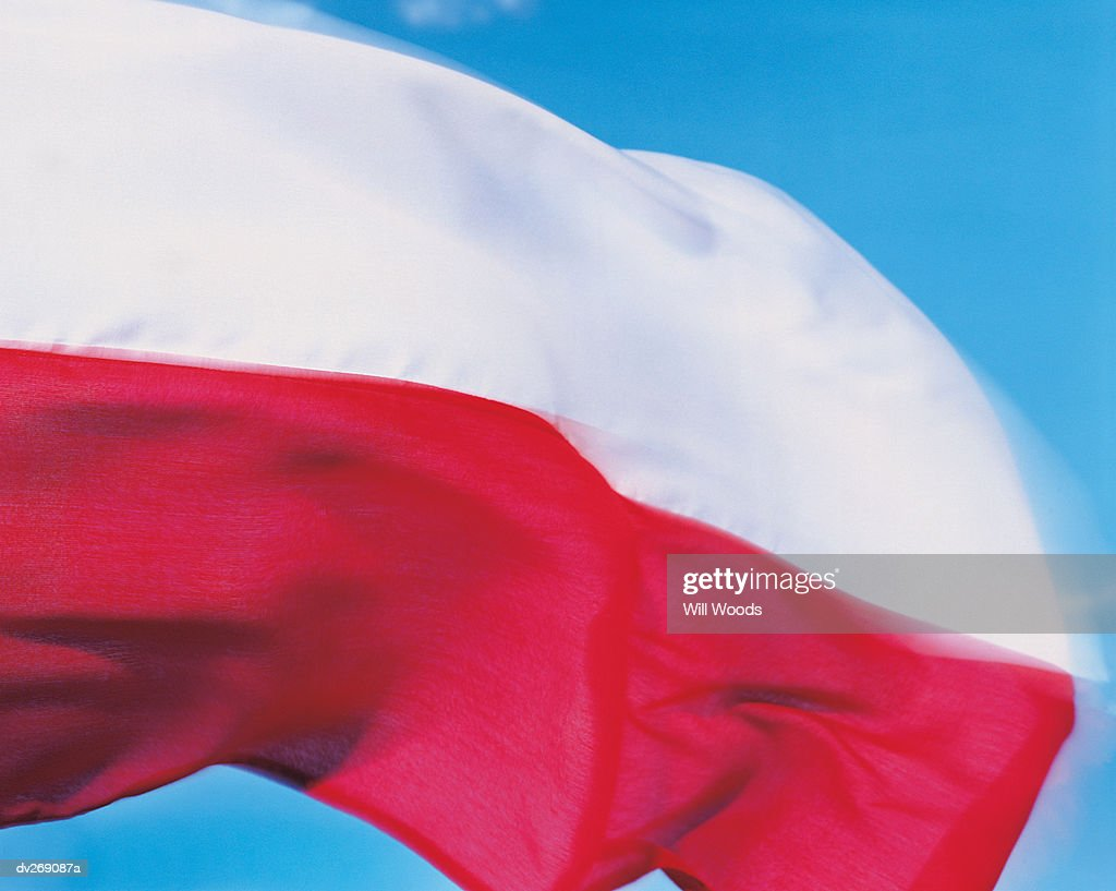 closeup of flag of poland stock photo getty images