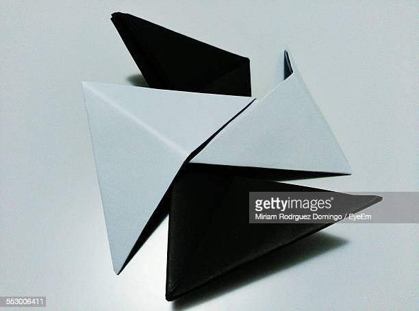 Close-Up Of Folded Papers