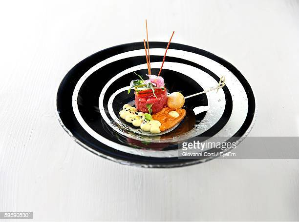 Close-Up Of Food Served In Plate On Table