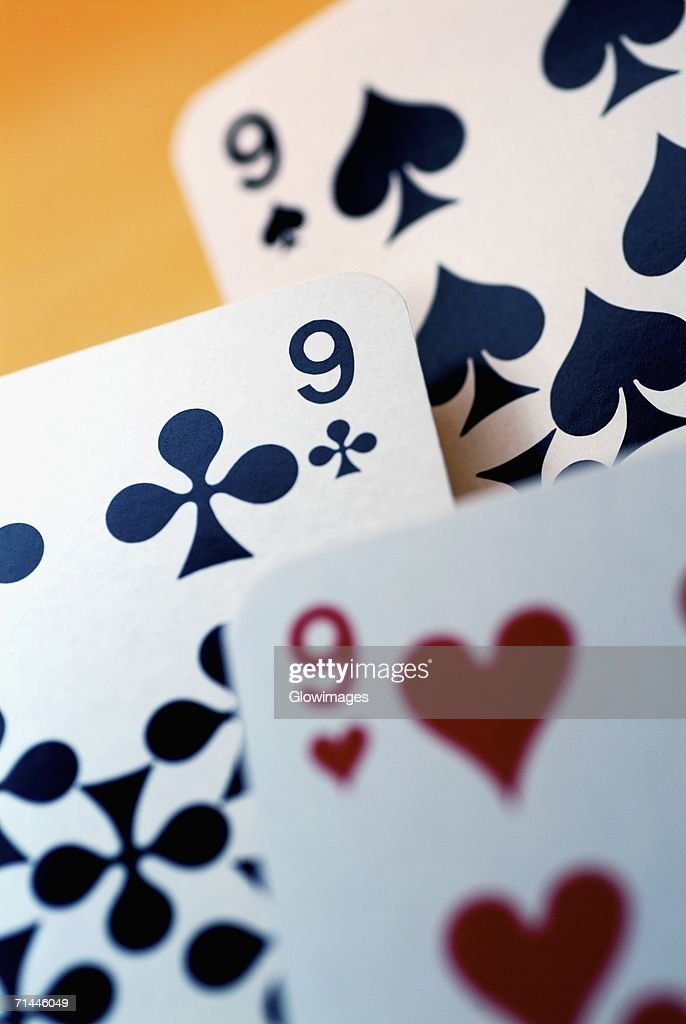 Close-up of four aces
