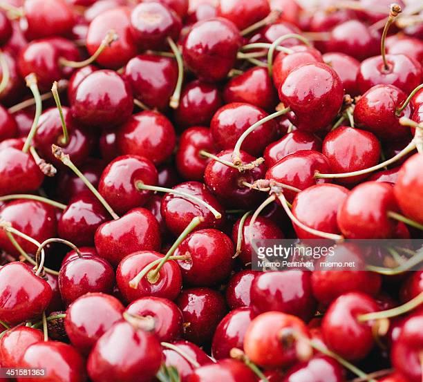 Closeup of fresh cherries
