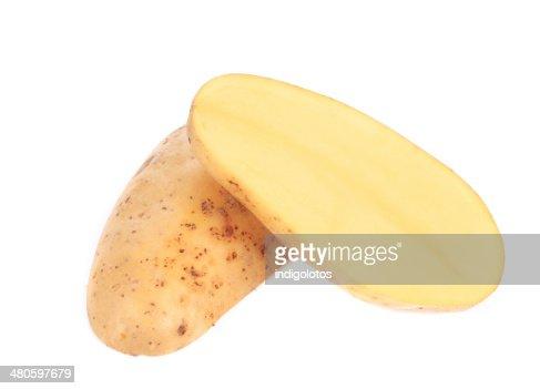 Closeup of fresh chopped potato. : Stock Photo