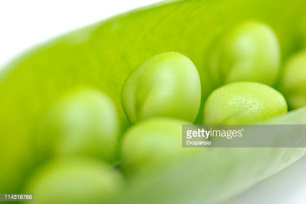 Close-Up of Fresh Green Peas in a Pod series