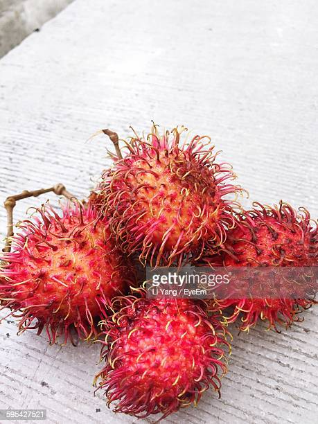 Close-Up Of Fresh Rambutans On Table