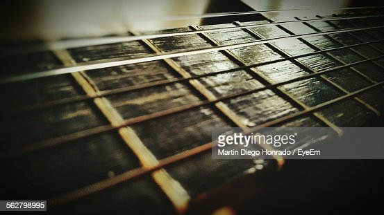 Close-Up Of Fretboard