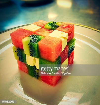 Close-Up Of Fruits In Plate  Stock Photo