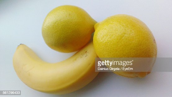 Close-Up Of Fruits Over White Background