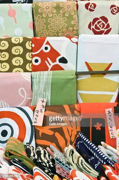 Close-up of Furoshiki (wrapping cloth), Mino, Gifu, Japan