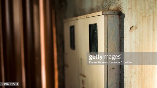 abandoned fuse box on wall stock photo getty images 1