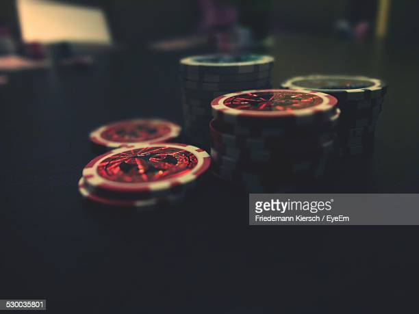 Close-Up Of Gambling Chips
