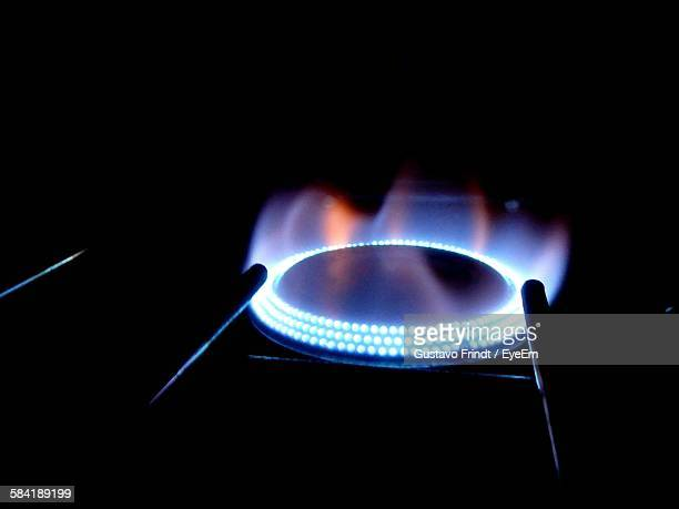 Close-Up Of Gas Stove Burner