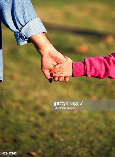 CloseUp Of Girl Holding Grandfathers Hand