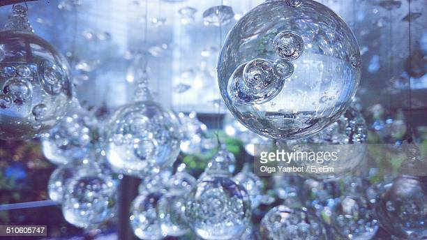 Close-up of glass bubbles