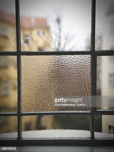 Close-Up Of Glass Of Window
