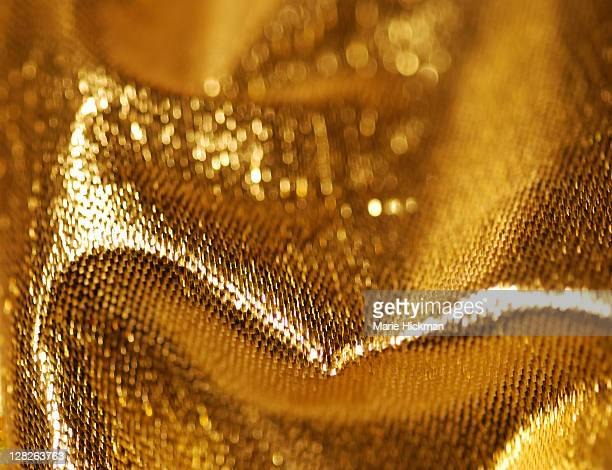 Close-up of gold material