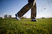 Close-Up of golfer's swing