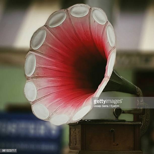 Close-Up Of Gramophone On Table