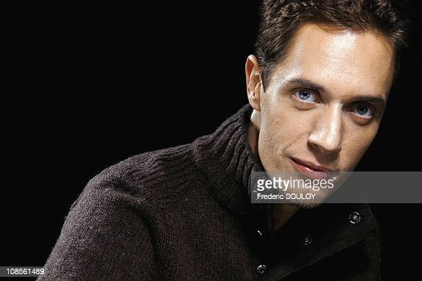 Closeup of Grand Corps Malade singer in Paris France on January 16 2007