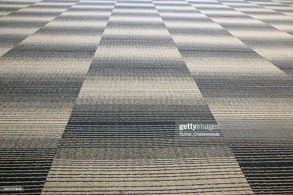 Close Up Of Grey Office Carpet Showing Texture : Stock Photo