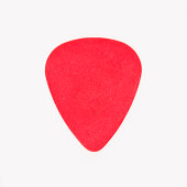 Close-up of guitar pick, studio shot