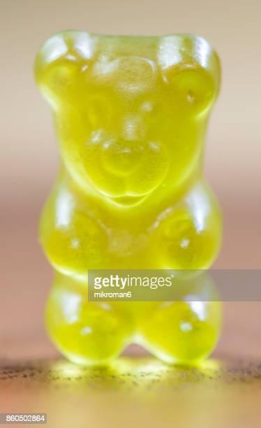 Close-up of gummy bear Candies