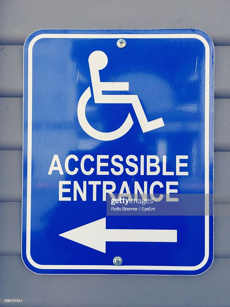 Close-Up Of Handicap Symbol