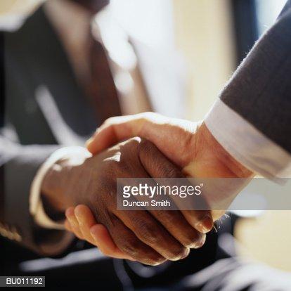 Close-Up of Handshake : ストックフォト