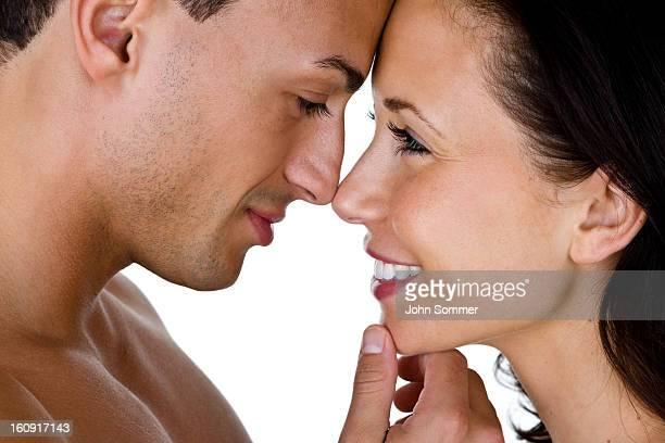Closeup of happy couple