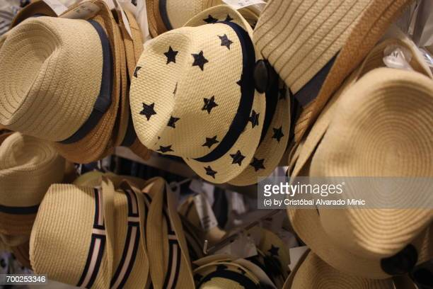 Close-Up Of Hats For Sale