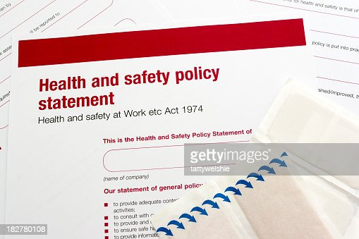 Health And Safety Statement Stock Photo  Getty Images