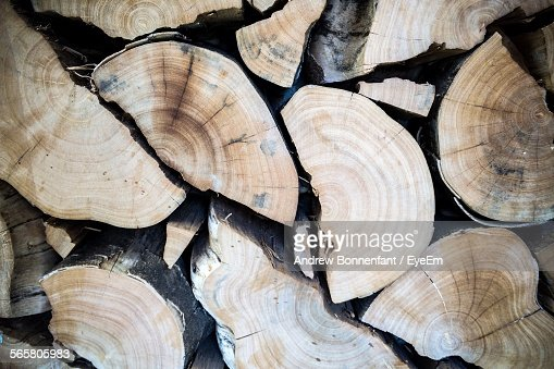 Close-Up Of Heap Of Firewood