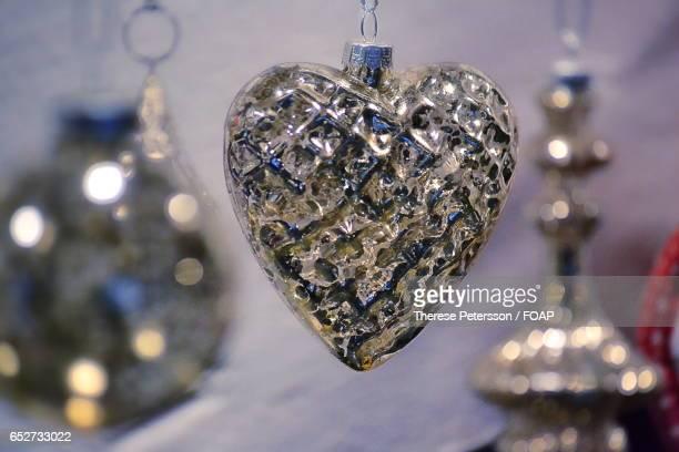 Close-up of heart shape locket