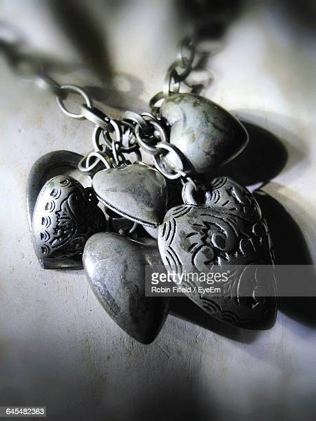 Close-Up Of Heart Shaped Pendants