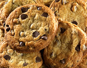 Close-up of Homemade Chocolate Chip Cookies