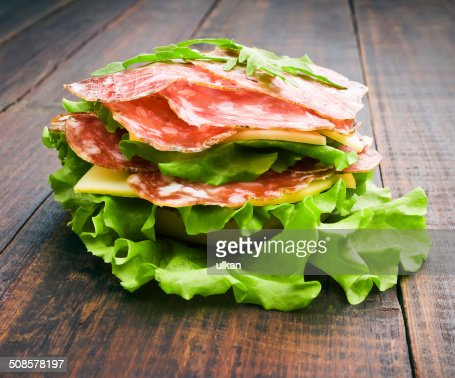 Closeup of homemade hamburger : Stock Photo