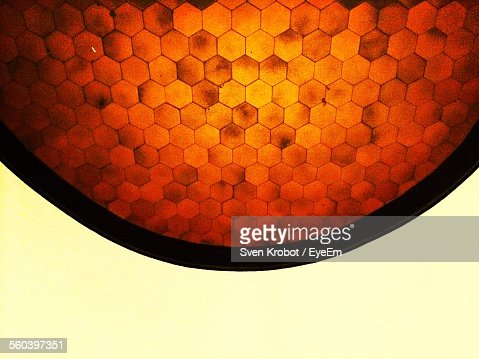 Close-Up Of Honeycomb Against Sky