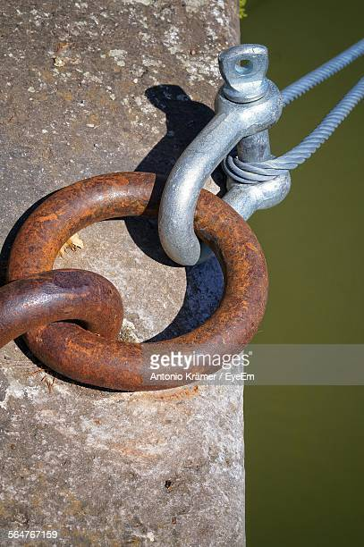Close-Up Of Hook With Mooring Ring
