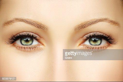 Closeup of human eyes