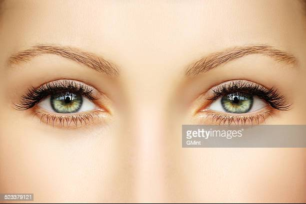 Closeup of human eyes
