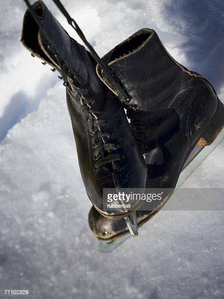 Close-up of ice skates