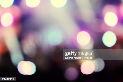 Close-Up Of Illuminated Blurred Lights